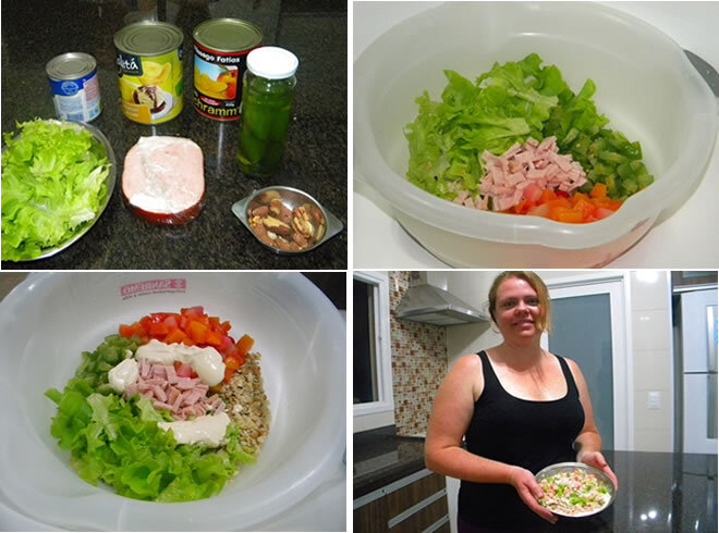 salada doce com berinjela e abacaxi