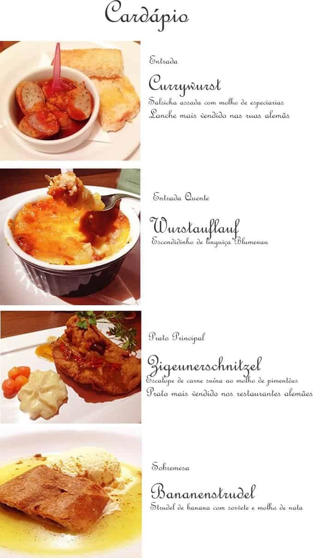 Jantar alemão com o chef Heiko Grabolle no Senac Bistrô – Restaurante Escola, em Blumenau