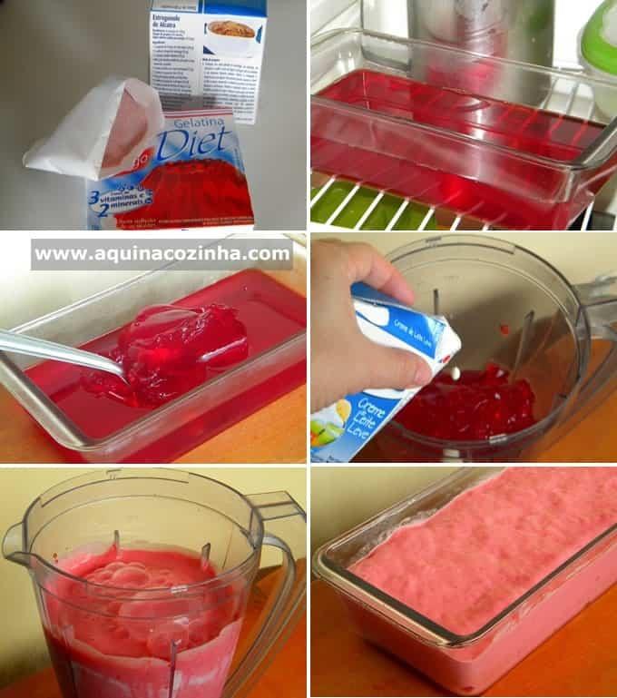 de mousse de morango com gelatina facil simples