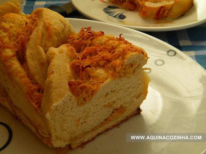Pão recheado com frango