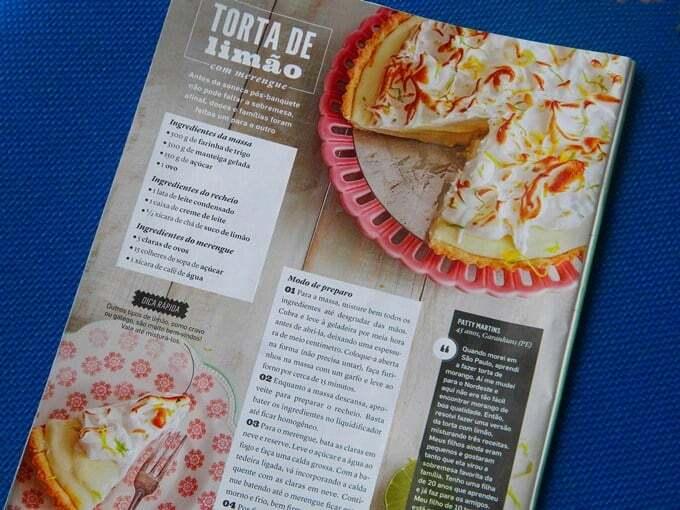 Minha Torta de Limão na Revista Todos