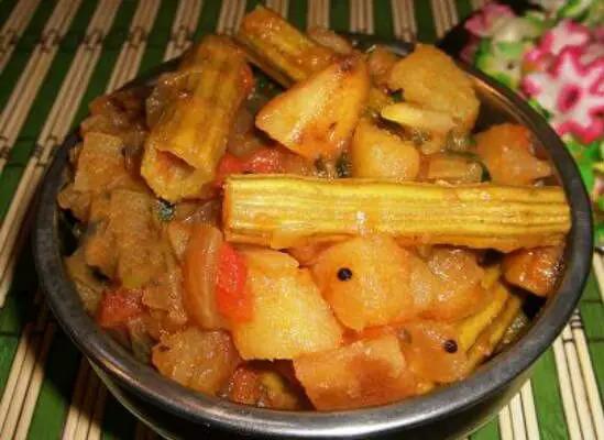 Drumstick Potato Peas Masala