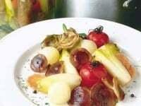 Escabeche de hongos y verduras