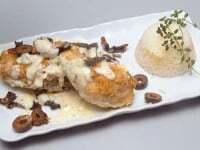 Pollo con hongos