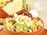 Cazuelitas de pollo y vegetales