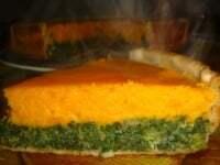 Tarta de Calabaza y Espinaca (Bicolor)