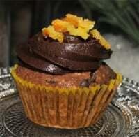 Muffins de chocolate y de naranja