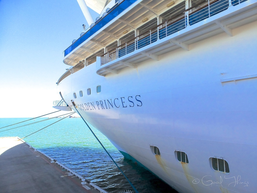 A day of indulgence on the Golden Princess - postcards and morsels