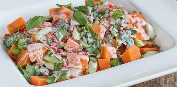 thai kumara salad
