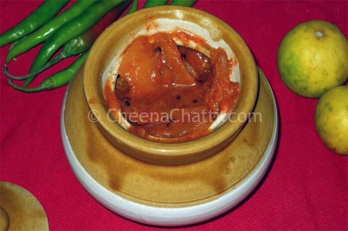 Kerala Lemon pickle / Naranga achar