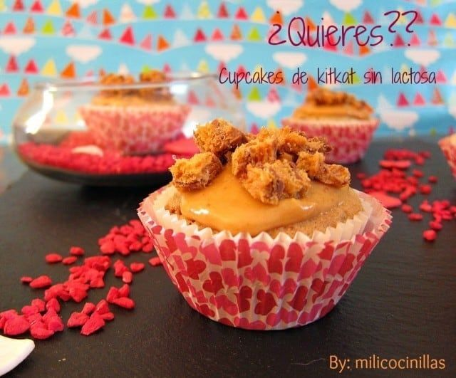 Cupcakes de KitKat casero | Fáciles y deliciosas