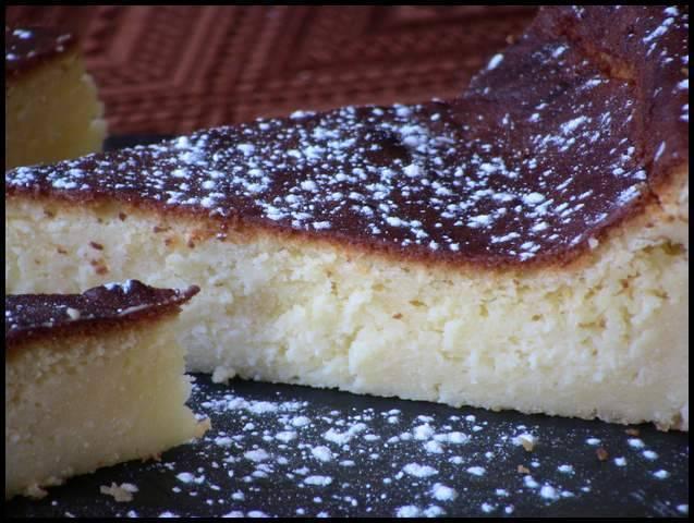 Tarta de queso batido, receta casera