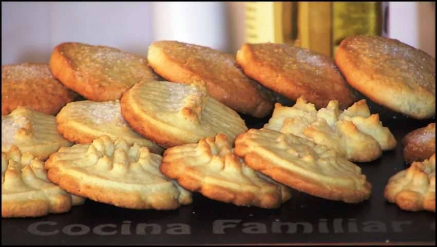 Galletas de mantequilla y coco