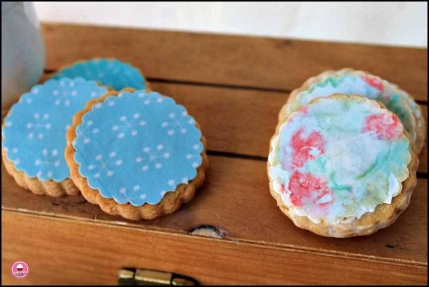 Galletas de vainilla y papel de azúcar