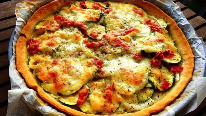 Pastel de verduras con dos quesos