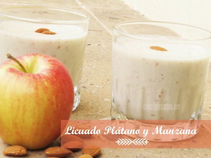 Licuado de Plátano y Manzana contra la Gastritis