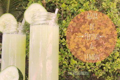 Refrescante agua de pepino