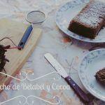 Bizcocho de Betabel (Remolacha) y Cocoa