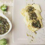 Panela Asada con salsa verde