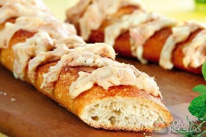 Receita de Sanfona de pão recheada de catupiry e atum