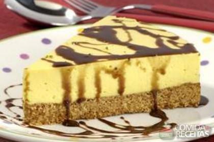 Receita de Torta mousse de manga com chocolate