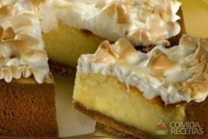 Receita de Torta suflê de limão