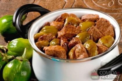 Receita de Carne com jiló