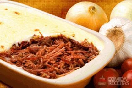 Receita de Escondidinho de carne seca especial