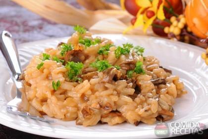 Receita de Risoto de cogumelo e fígado de galinha