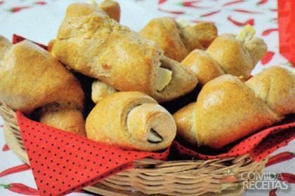 Receita de Croissant de queijo branco