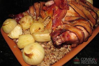 Receita de Peru com recheio de lombo de porco moido