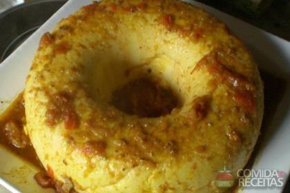 Receita de Polenta com molho de tomate