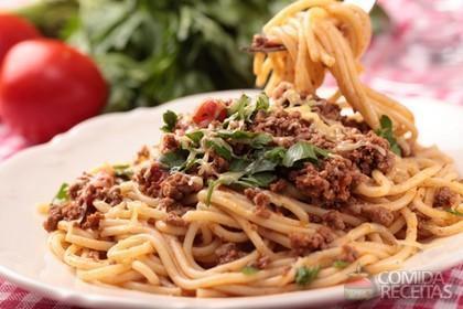 Receita de Espaguete à mineira