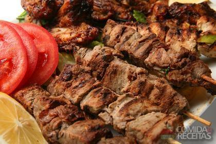 Receita de Espetinho de carne