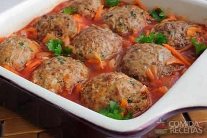 Receita de Almôndegas ao molho de tomate
