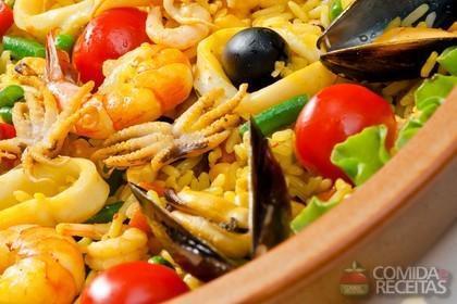 Receita de Paella de forno