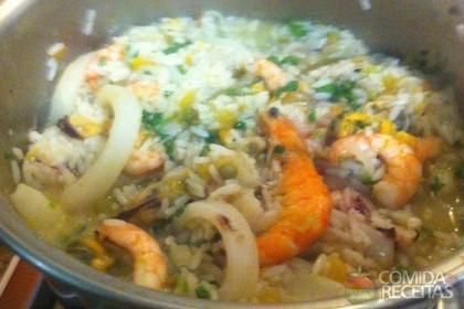Receita de Paella rei do camarão