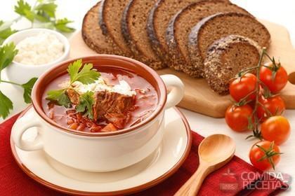 Receita de Sopa borscht