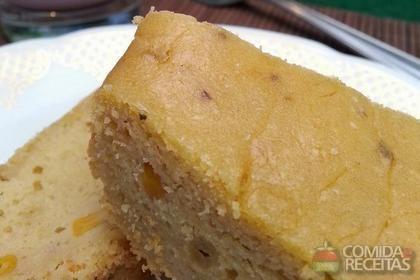 Receita de Bolo de milho e iogurte natural