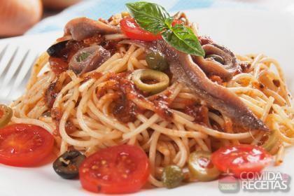Receita de Espaguete ao molho de trufas