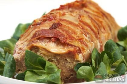 Receita de Bolo de carne com bacon
