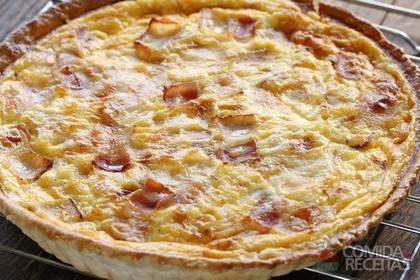 Receita de Quiche de queijo e bacon