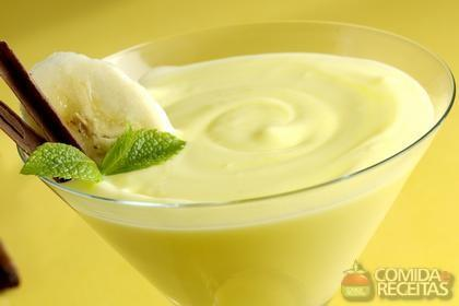 Receita de Mousse de banana com limão