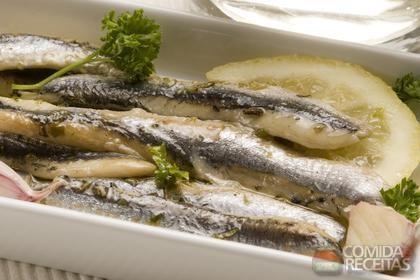 Receita de Sardinha em marinada de cebola e vinagre balsâmico