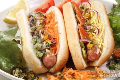 Receita de Hot dog americano