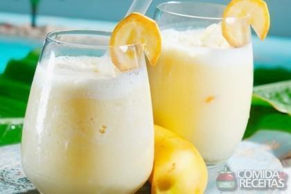 Receita de Vitamina de banana e laranja