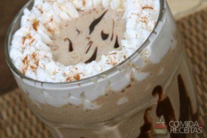 Receita de Milk shake de cappuccino