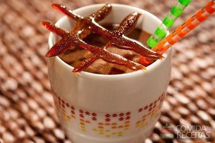 Receita de Cappuccino e caramelo de café