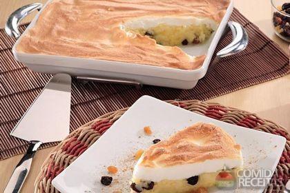 Receita de Torta de arroz com merengue