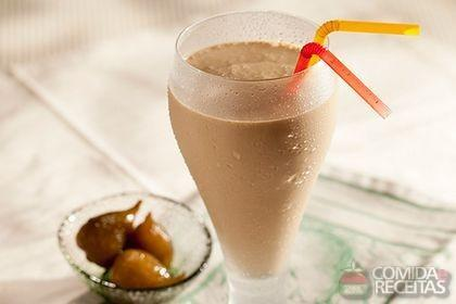 Receita de Shake de cappuccino com figo em calda